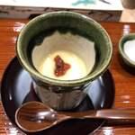鮨旬美西川 - 梅肉、茶碗蒸し
