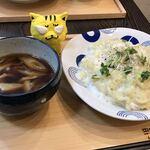 鴨ふじ - とろろ鴨つけ麺880円(税込)