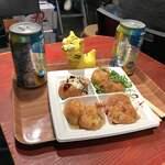 たこ焼道楽わなか - おおいり8個600円+氷結レモン250円×2