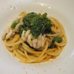 122796433 - 白子と菜の花のスパゲティーニ。