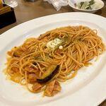 カプチーナ - 茄子とベーコンのトマトスパゲティ(LL)