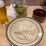ステーキ食堂BECO - 生ビールとごはん・サラダ