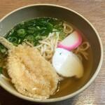 味一 - 料理写真:ふく天うどん640円