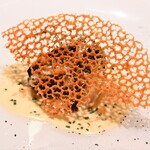 レストラン ル・クール神戸 - 鮑のロティー パルメザンチーズのクルスティアン