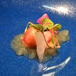 レストラン ル・クール神戸 - オマールの柑橘ジュレとキャビア