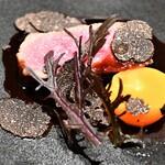 レストラン ル・クール神戸 - 神戸牛ロース肉のグリエ 季節の野菜添え 赤ワインソース