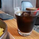Pikanthi - セットのアイスコーヒーです。