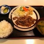 キッチンすもり - 牛肉のにんにく焼き定食