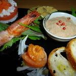 松喜寿司 - 料理写真:オードブル5点盛り(コース料理の前菜)
