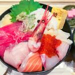 魚力食堂 - 市場丼(酢飯大盛) アップ