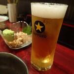 焼鳥 雷鳥 - 生ビール小