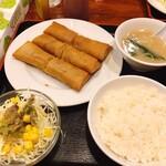 どんく - 【春巻き定食 ¥850】
