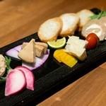 日本酒に合わせた チーズ盛り合わせ