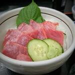 福魚食堂 - 本マグロ丼 (貝汁付) [¥1200]