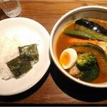 122855290 - 【2020/1】チキン野菜スープカレー US産(10辛)