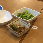 和食処 おか - 枝豆!小鉢