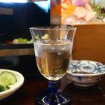鎌倉御代川 - 食前酒の梅酒ロック
