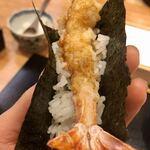 天婦羅 みやしろ - ●手巻き海老天丼