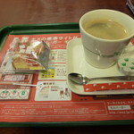 モスバーガー - フローズンキューブケーキ(イチゴ&ベイクドチーズ)のスイーツセット