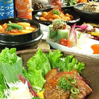 種類豊富な韓国料理は初心者から韓国料理好きな方まで大満足☆