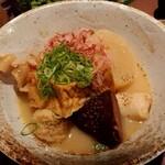 nurukansatouoosaka - 鶏白湯おでん 御任せ盛り合わせ7種♪