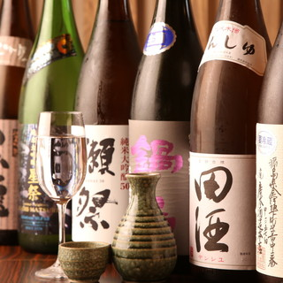 プレミアム日本酒を常時ご用意しております