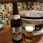 ホルモン肉問屋 小川商店 - 瓶ビール♪