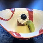 人形町今半 - デザート・・豆乳ショコラと果物