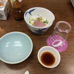 ちゃんこ 宮登 - お通し的な鴨サラダ