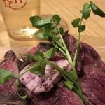 122877834 - 定番!牛ハラミのステーキ&フリット 赤ワインバター                       ハーフサイズ ¥990-(税込表示)