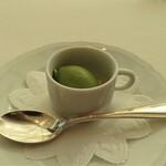 オザワ - お口直しの抹茶のアイス