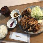 二代目 男寿狼 - 鶏から揚げ大定食(1200円)