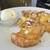 ムサシマルカフェ - ハニー&バターのフレンチトースト(レギュラーサイズ)