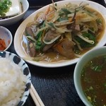12289985 - レバニラ炒め定食、ハーフ
