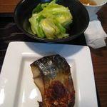 フウダイニング - 焼き鯖とキャベツ浅漬け