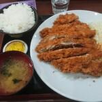 122913101 - ジャンボチキンカツ定食ダブル1330円+ご飯大盛