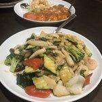 中華料理 華景園 - イカの野菜炒め