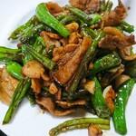 122924183 - 炙り豚と青唐炒め定食