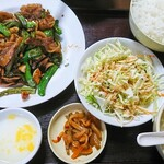 122924186 - 炙り豚と青唐炒め定食