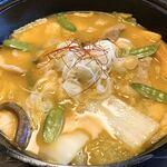 郷土料理とお食事処 赤富士 - 豚肉ほうとう アップ