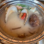 新島水産 - すだれ貝の粕汁