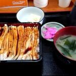 食事処 やまよ - あな重定食1400円(2020/01)
