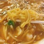 五右ェ門 - あんかけチャンポンの麺