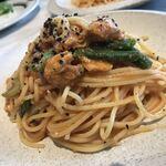 Source11 - 鶏もも肉と黒オリーブのトマトラグースパゲティ