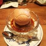 キッチン ククゥ - デザート200円 最中は三種類から選べました。 カウンターの絵本が面白くてついつい読んでしまいます