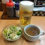 ステーキのくいしんぼ - 生ビール(中)