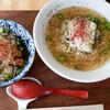 Taishuushokudouchuukasobatookomenomisemeshiken - 料理写真:「メシケンセット」青唐辛子担々麺・和風カツ丼(小)