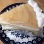 ソレイユ - 料理写真:桃のショートケーキ