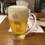 飛菜鶏 - とりあえずの生ビール