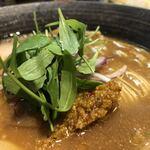 ra-menyatoibokkusu - ルッコラ、肉味噌、アーリーレッド